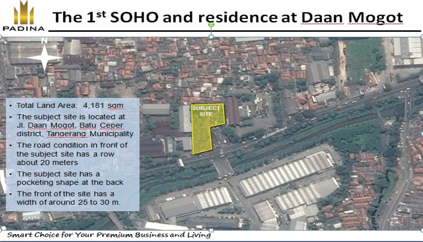 Lokasi Apartemen Padina Residence