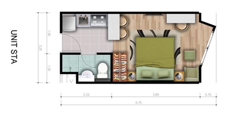 Type Unit 1 Bedroom A