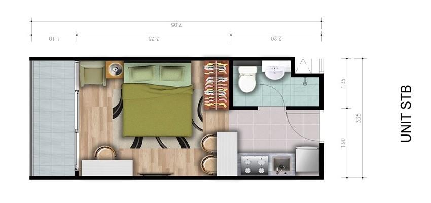 Type Unit 1 Bedroom B