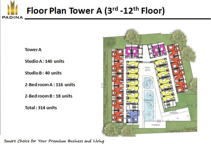 floor plan tower a ( 3rd-12th floor) floor