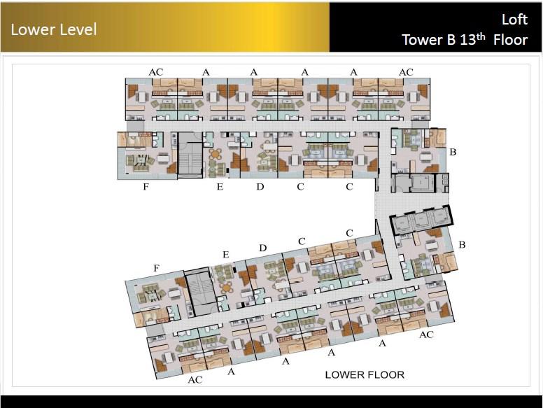 Type Loft Padina Residence 13th Floor Lower Floor