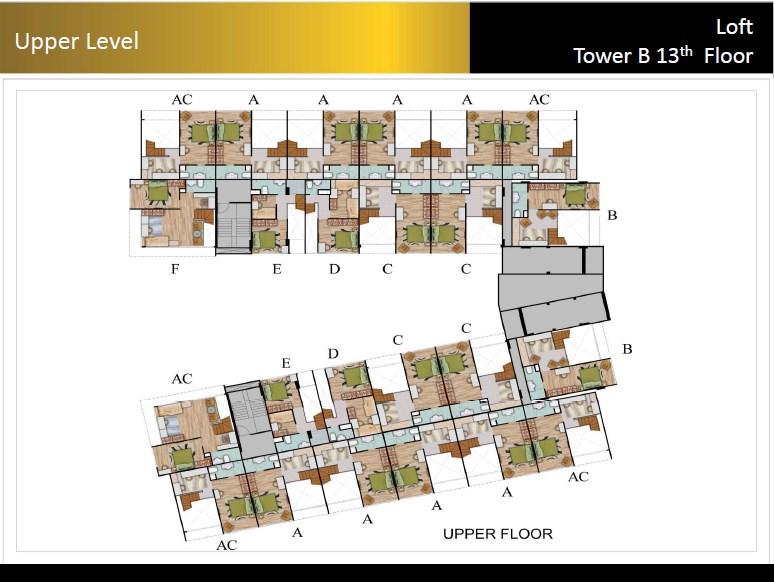 Type Loft Padina Residence 13th Floor Upper Floor